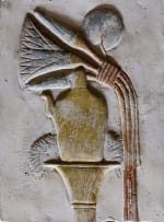 An example of the lotus bud with the lotus plant are pervasive in ancient Egyptian art.