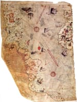 The Piri Reis map in color.